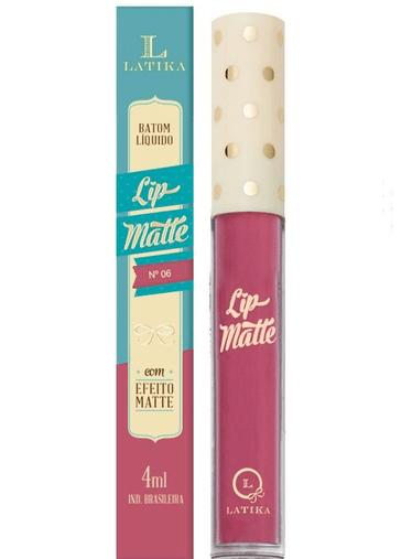 Batom Líquido Lip Matte Cor 06 - Latika