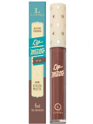 Batom Líquido Lip Matte Cor 33 - Latika