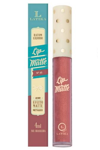 Batom Líquido Lip Matte Cor 45 - Latika