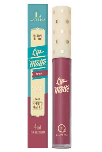 Batom Líquido Lip Matte Cor 50 - Latika