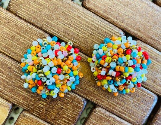Brinco Miçanga Multicolorido - Bijuh Moderna