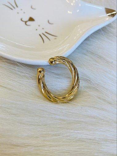 Brinco Piercing Dourado