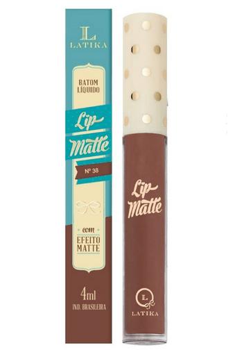 LatikaBatom Líquido Lip Matte Cor 38 - Latika