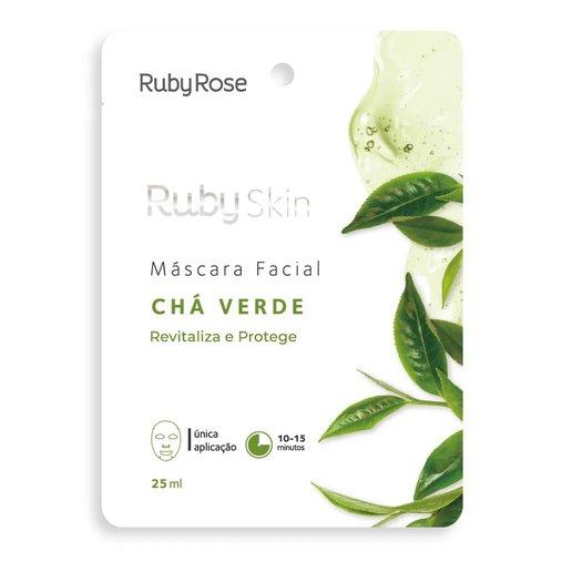 Máscara Facial De Tecido Chá Verde Skin - Ruby Rose