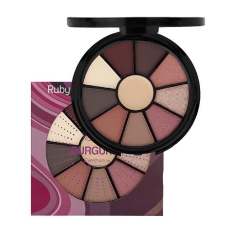 Mini Paleta de Sombras 9 Cores Burgundy - Ruby Rose
