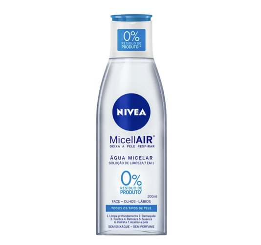 NIVEA Solução de Limpeza 7 em 1 - Água Micelar 200ml