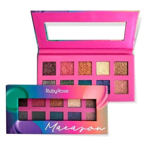 Paleta De Sombras Essência Macaron - Ruby Rose