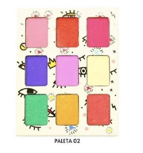 Paleta Estojo Para Olhos My Needs 9 Cores - Pink 21 02