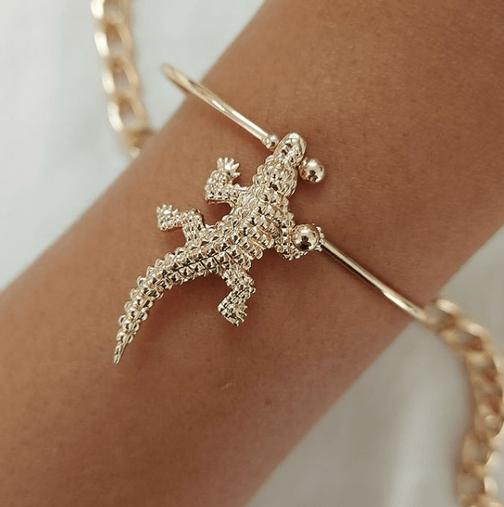 Pulseira Crocodile Gold - Dourada - Bijuh Moderna