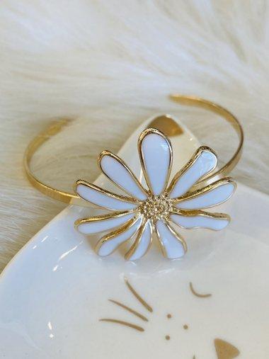 Pulseira Flor Branca