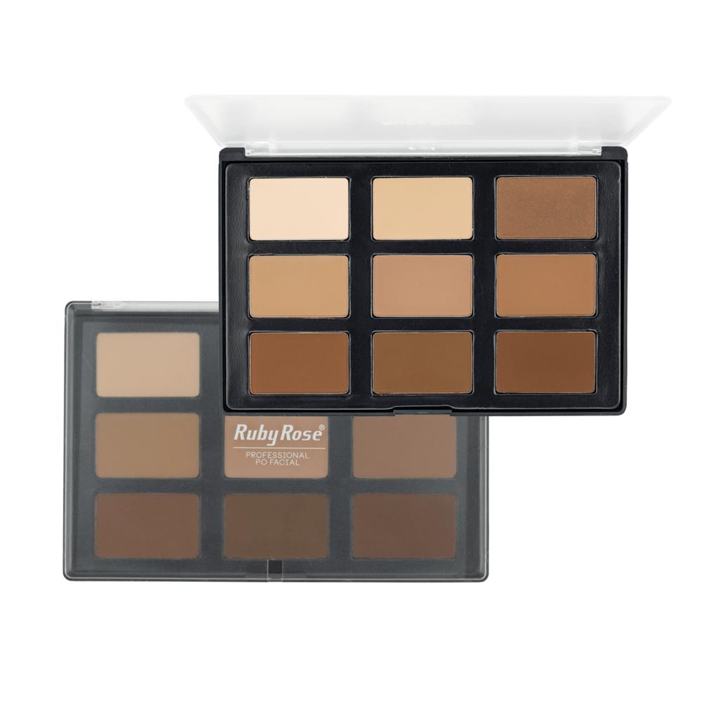 Paleta de Pó Facial Makeup HB-7208 - Ruby Rose - Sumirê Lapa